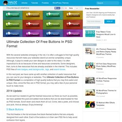 Ultimate Collection of Free Buttons in PSD Format
