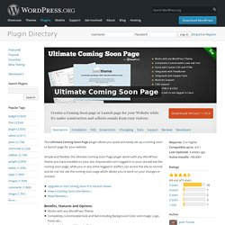 Ultimate Coming Soon Page