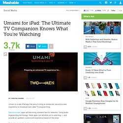 Umami Wants to Be the Ultimate Second Screen App for iPad