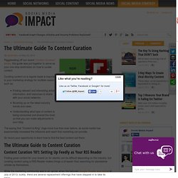 The Ultimate Guide To Content Curation - Social Media Impact - Social Media Impact