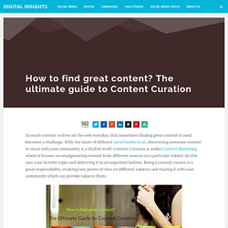 The Ultimate guide to content curation [Tools to get started]