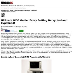 Ultimate BIOS Guide: Every Setting Decrypted and Explained!