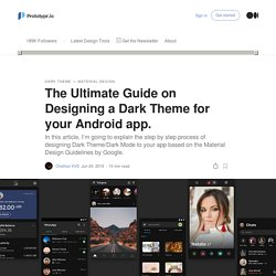 The Ultimate Guide on Designing a Dark Theme for your Android app.