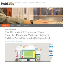 The Ultimate Ad Dimension Cheat Sheet for Facebook, Twitter, LinkedIn & Other Social Networks