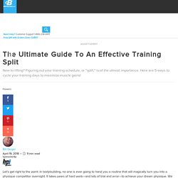 The Ultimate Guide To An Effective Training Split