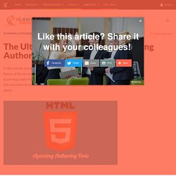 The Ultimate List of HTML5 eLearning Authoring Tools