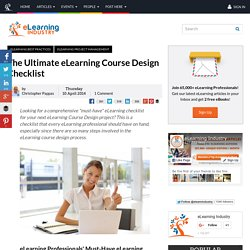 The Ultimate eLearning Course Design Checklist