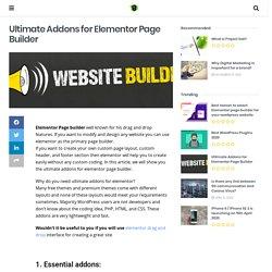 Ultimate Addon for Elementor Page Builder