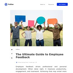 The Ultimate Guide to Employee Feedback