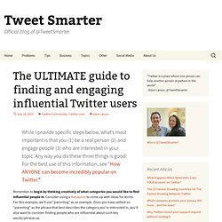 How to find and engage influential Twitter users