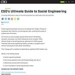 CSO's Ultimate Guide to Social Engineering