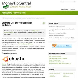 Ultimate List of Free Essential Software