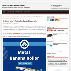 The Ultimate Guide For The Metal Bow, Expander & Banana Roller ~ Arvind Rub-Web Controls Limited