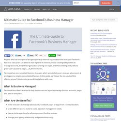 Ultimate Guide to Facebook's Business Manager