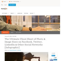 The Ultimate Cheat Sheet of Social Media Photo & Image Sizes [Infographic]