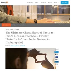 The Ultimate Cheat Sheet of Photo & Image Sizes on Facebook, Twitter, LinkedIn & Other Social Networks