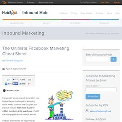 The Ultimate Facebook Marketing Cheat Sheet - Waterfox