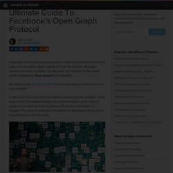 Ultimate Guide To Facebook's Open Graph Protocol