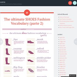 The ultimate SHOES Fashion Vocabulary (parte 2)