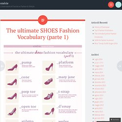 The ultimate SHOES Fashion Vocabulary (parte 1)