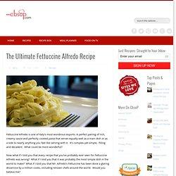 Real Fettuccine Alfredo