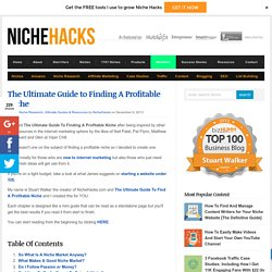 The Ultimate Guide to Finding A Niche Market