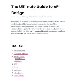 Ultimate Guide to API Design