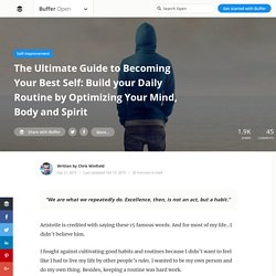 The Ultimate Guide to Becoming Your Best Self