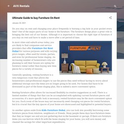 Ultimate Guide to buy Furniture On Rent