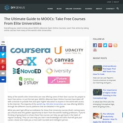 The Ultimate Guide to MOOCs: Learn For Free Online
