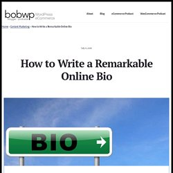The Ultimate Guide On How To Write Your Online Bio