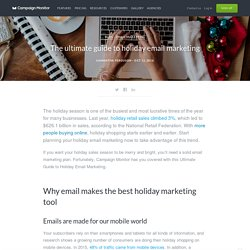 The Ultimate Guide to Holiday Email Marketing