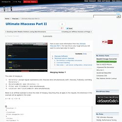 Ultimate Htaccess Part II
