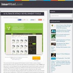12 Ultimate HTML5 Development Tools