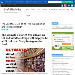 The ULTIMATE List of 24 Free eBooks on UX and Interface Design