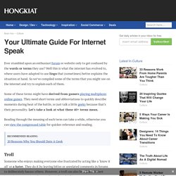 Your Ultimate Guide For Internet Speak - Hongkiat