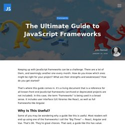 The Ultimate Guide to JavaScript Frameworks