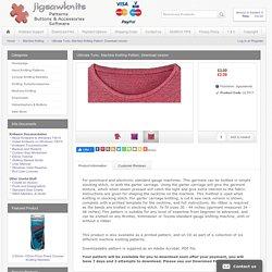 Ultimate Tunic, Machine Knitting Pattern. Download version - Jigsawknits UK