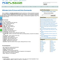Ultimate List of Linux and Unix Commands
