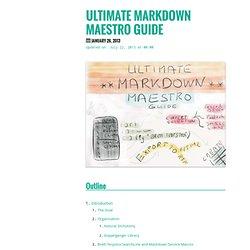 Ultimate Markdown Maestro Guide