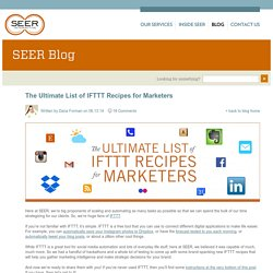 The Ultimate List of IFTTT Recipes for Marketers