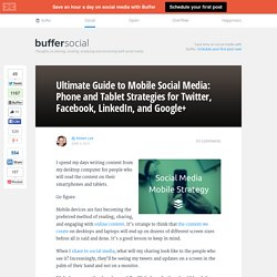 The Ultimate Mobile Social Media Strategy Guide