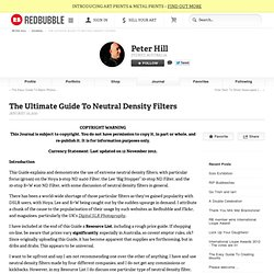 """The Ultimate Guide To Neutral Density Filters"" by Peter Hill"