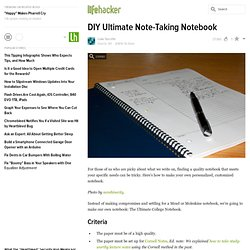 DIY Ultimate Note-Taking Notebook