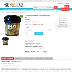 Buy Ultimate Nutrition Iso Sensation Delhi India