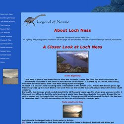 Legend of Nessie - Ultimate and Official Loch Ness Monster Site - About Loch Ness