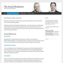 The Ultimate Online Tools List - The Social Ms