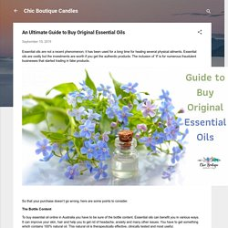 An Ultimate Guide to Buy Original Essential Oils