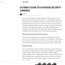 ULTIMATE GUIDE TO OUTDOOR SECURITY CAMERAS