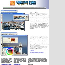 JTL Ultimate Paint Image Editor Homepage